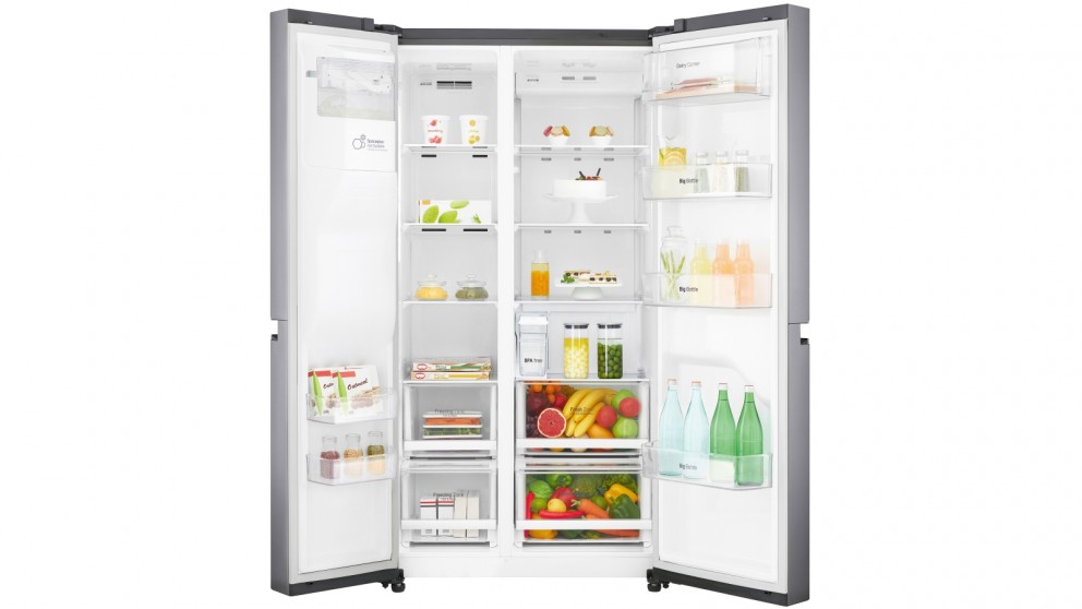 buy lg 668l side by side fridge with non plumbed ice  u0026 water dispenser