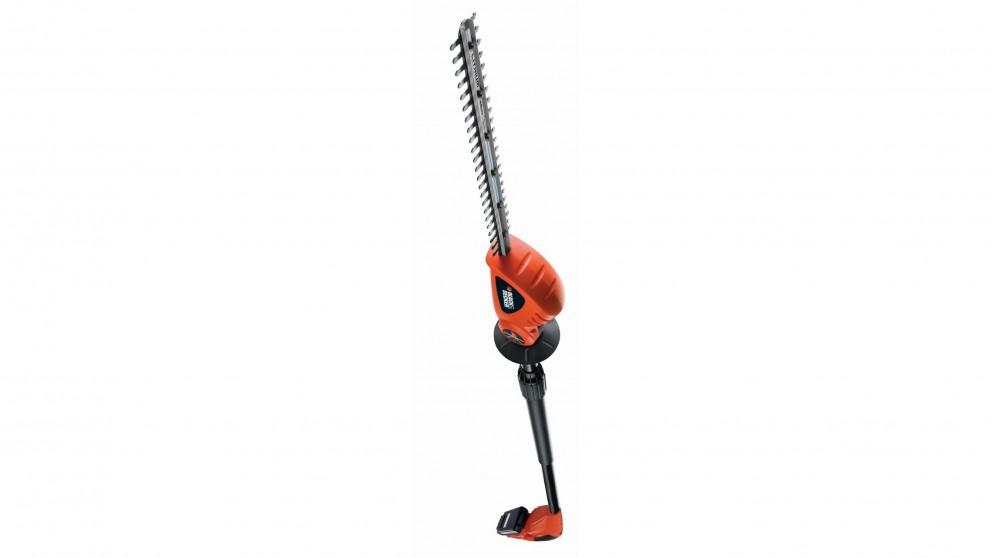 Black+Decker 430mm 18V Li-ion Pole Hedge Trimmer - Orange