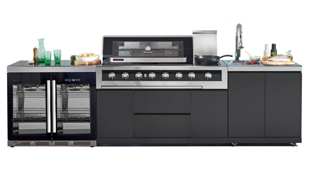 Gasmate Galaxy Black Hood Natural Gas Outdoor Kitchen - Package 2
