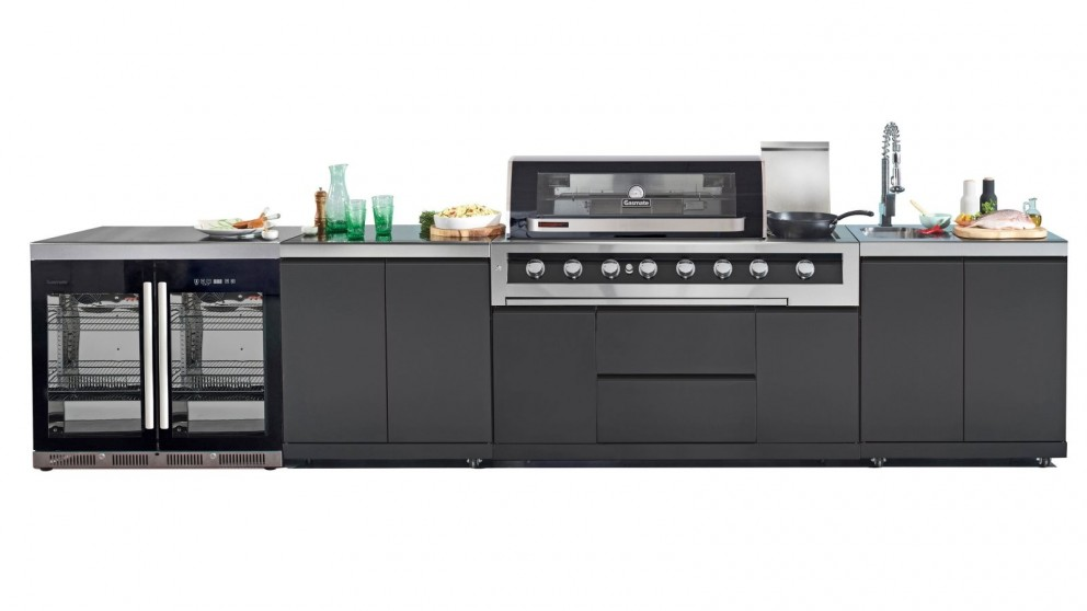 Gasmate Galaxy Black Hood Natural Gas Outdoor Kitchen - Package 3