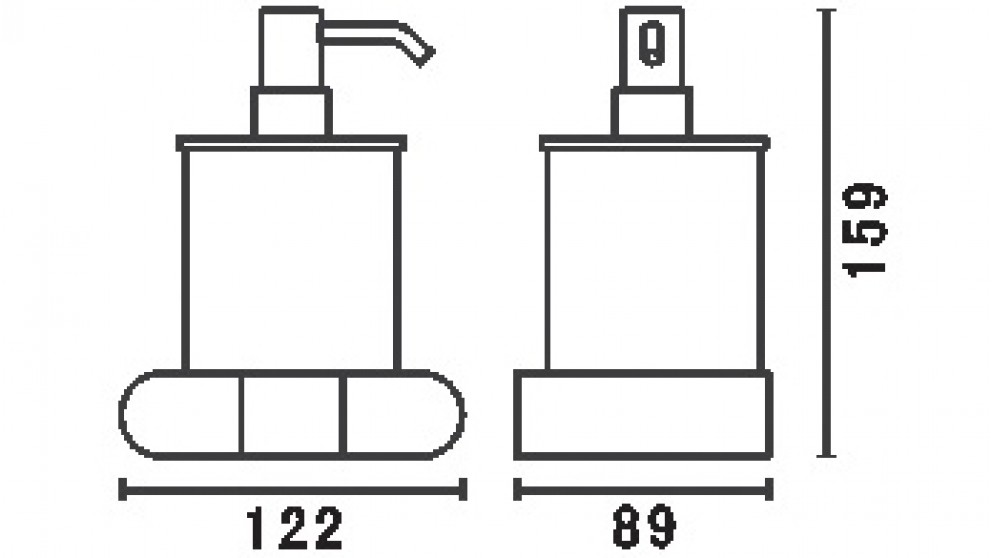PLD L.A. Soap Dispenser & Holder