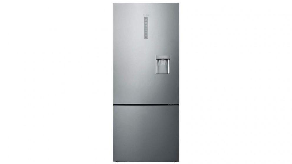Haier 450L Bottom Mount Fridge with Water Dispenser - Silver
