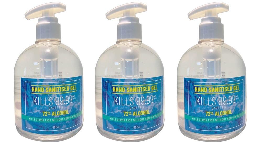 Hand Sanitiser 500ml - 3 Pack