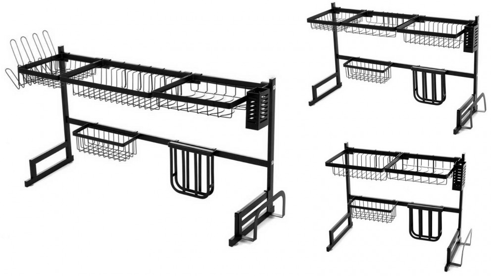 Hanna Goods 2-Tier Stainless Steel Dish Drying Rack