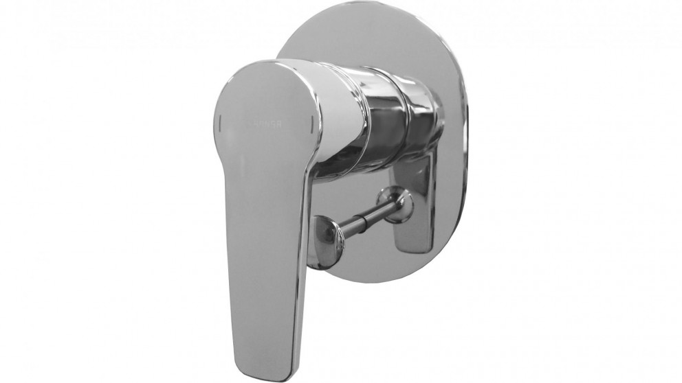 Hansa Polo Neu Oval Shower or Bath Mixer with Diverter with In-Wall Body