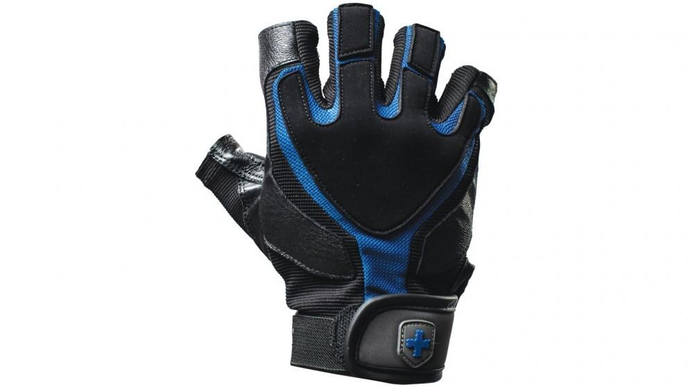 Harbinger Training Grip Wrist Wrap Black/Blue Gloves - Large