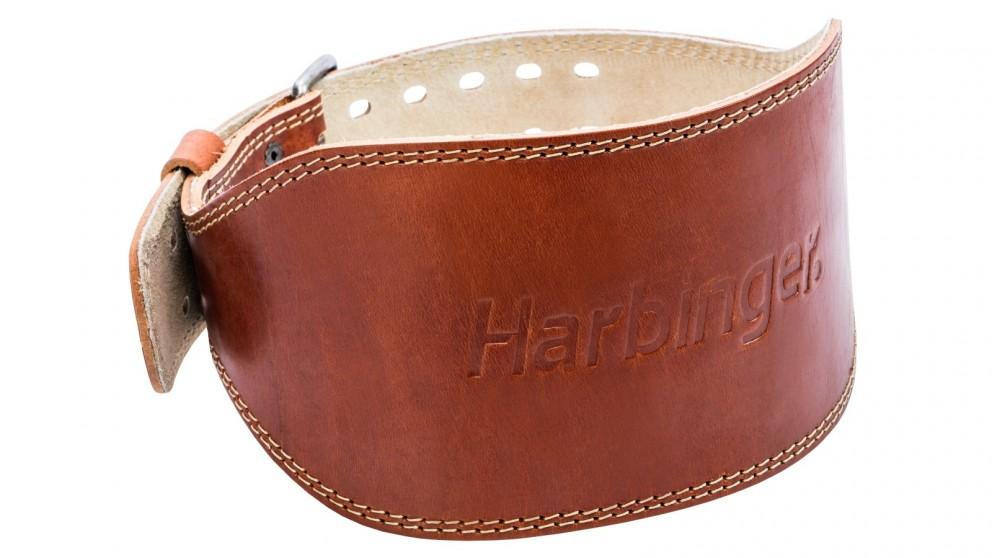 """Harbinger 6"""" Oiled Leather Belt - Medium"""