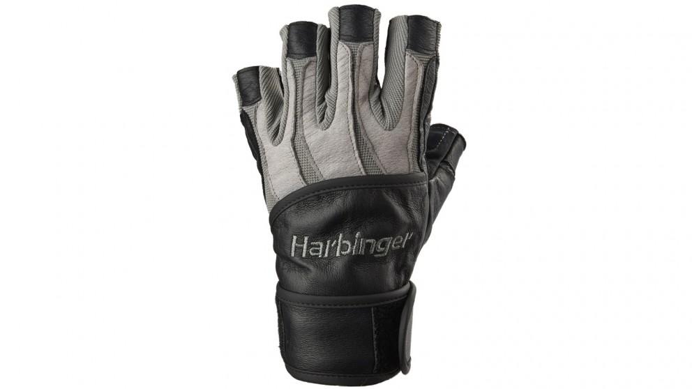 Harbinger Small Bioform Wrist Wrap Gloves - Grey