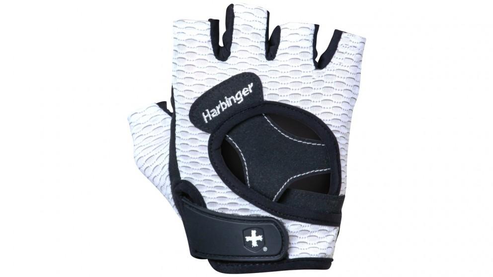 Harbinger Large Women's Flexfit Gloves - White