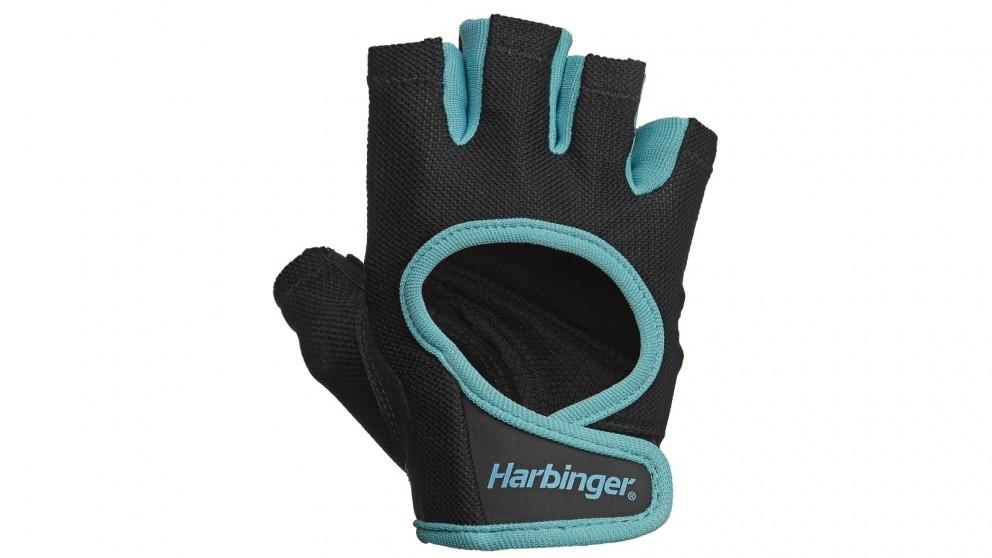 Harbinger Medium Women's Power Gloves - Blue