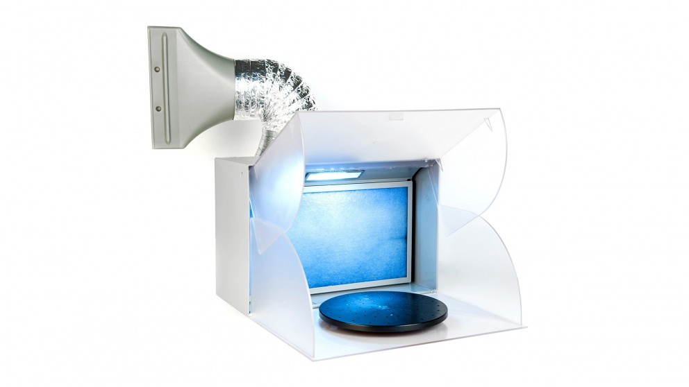 Dynamic Power Portable Exhaust Fan Air Brush Spray Booth with LED