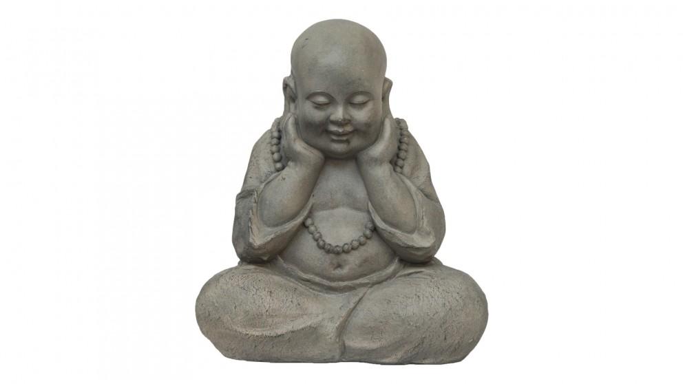 Cute Happy Buddha Garden Feature