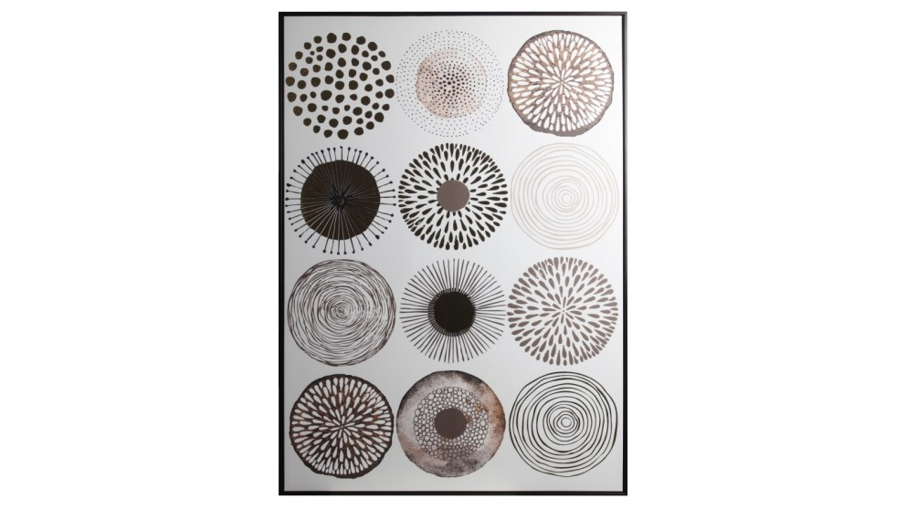 Cooper & Co. 143x102cm Round In Circles Ready To Hang Canvas Wall Art