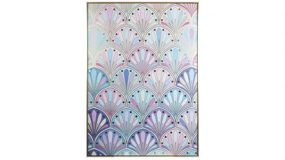 Cooper & Co. 143x102cm Violet Palmette Ready To Hang Canvas Wall Art