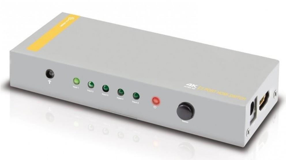 Alogic 5-Port HDMI 2.0 4K Switch with Wireless Remote