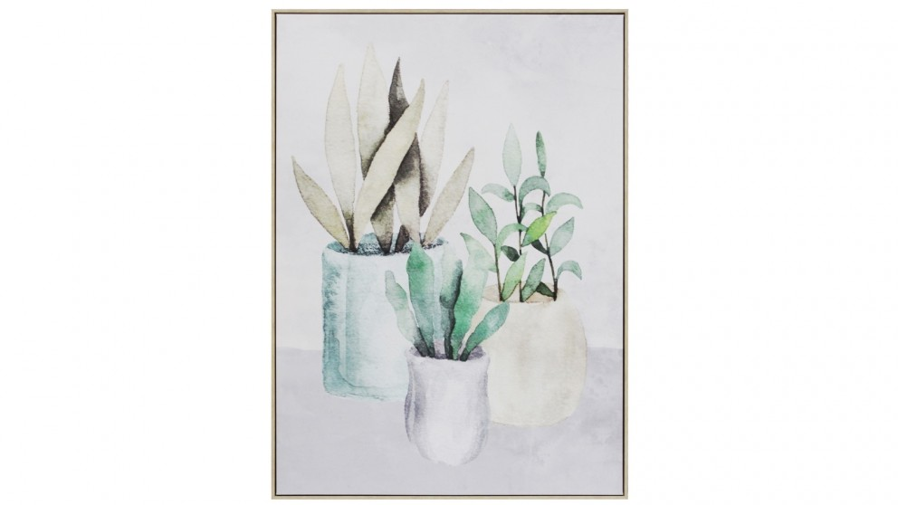 Cooper & Co. 100x140cm Garden Pots Ready To Hang Canvas Wall Art