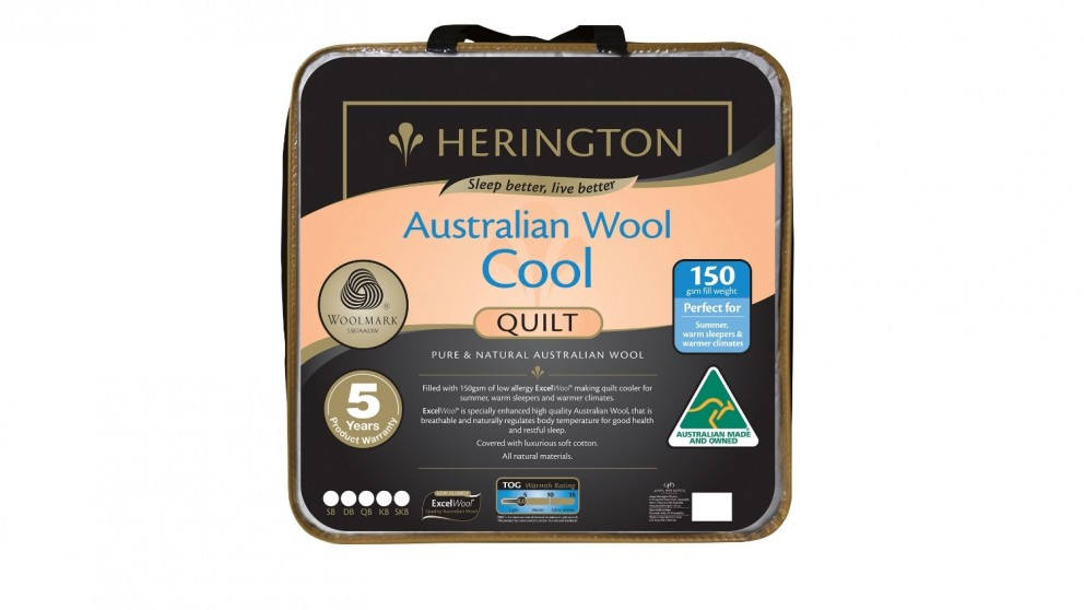 Herington Cool Wool Quilt - Super King