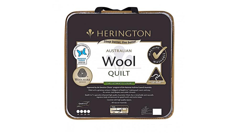 Herington Washable Australian Wool Single Quilt