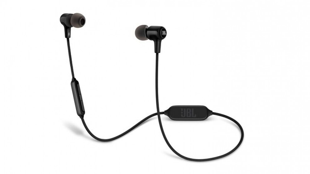 buy jbl e25bt wireless in ear headphone black harvey norman au. Black Bedroom Furniture Sets. Home Design Ideas
