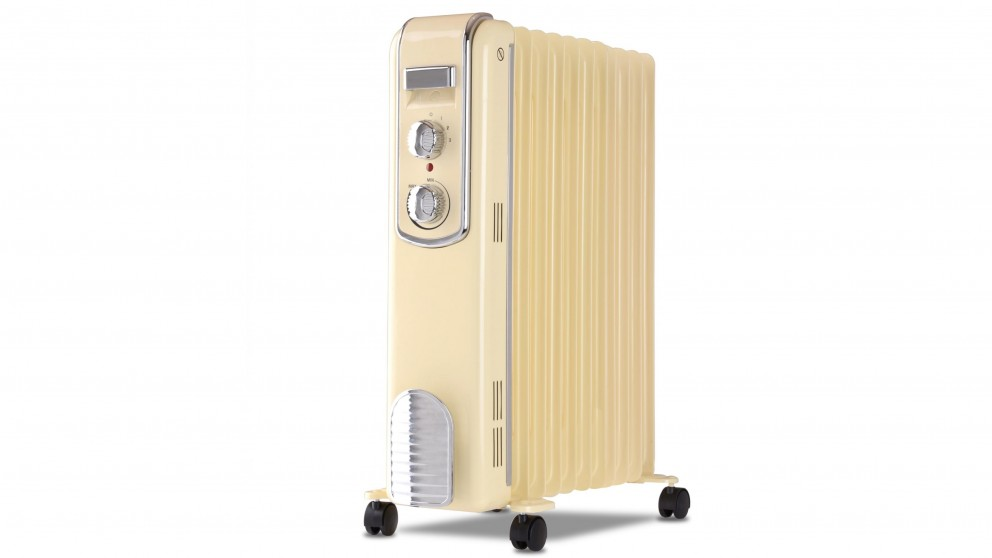 Goldair 2400W 11 Fin Retro Oil Column Heater - Cream