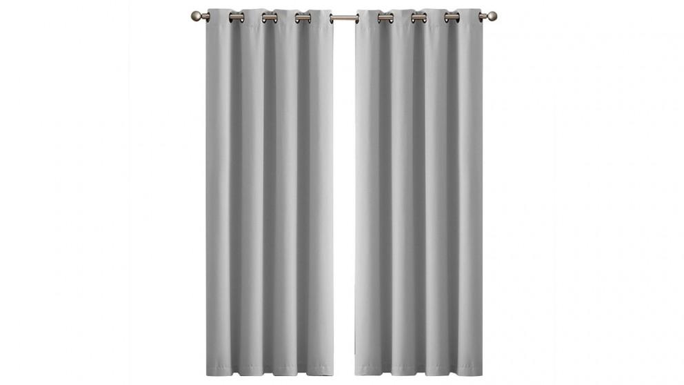 DreamZ 102x275cm Eyelet Room Blackout Curtains - Grey