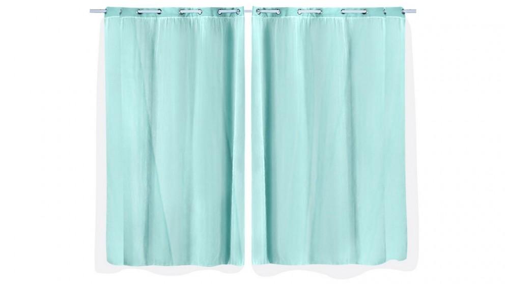 DreamZ 2-Panel 140x230cm Blockout Curtain - Aqua