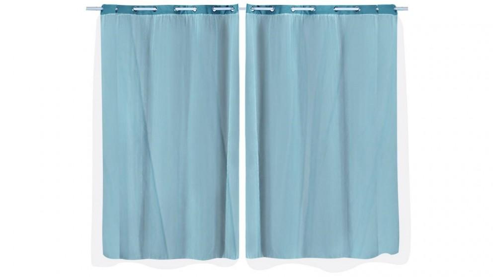 DreamZ 2-Panel 140x230cm Blockout Curtain - Turquoise