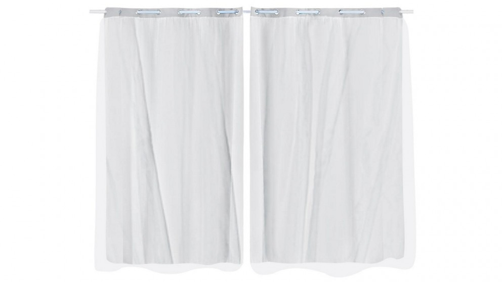 DreamZ 2-Panel 140x244cm Blockout Curtain - Grey