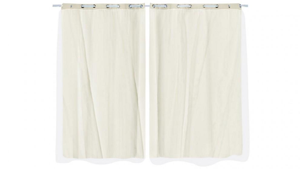 DreamZ 2-Panel 140x244cm Blockout Curtain - Sand