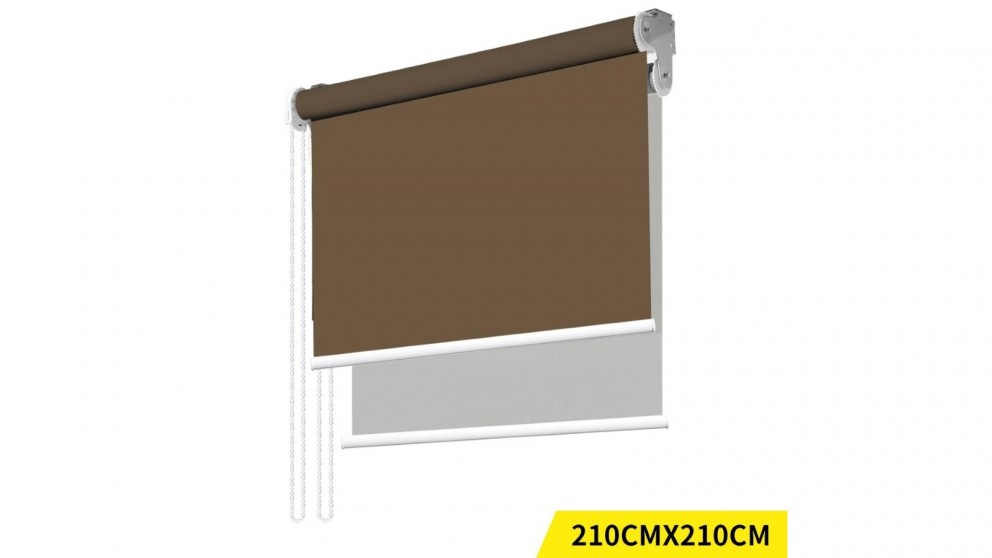 Double Roller Blinds 210x210cm - Albaster/White