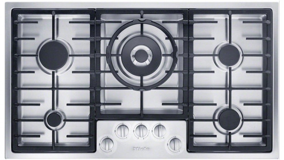 Miele Cleansteel 900mm 5 Burner Low Profile Natural Gas Cooktop - Stainless Steel
