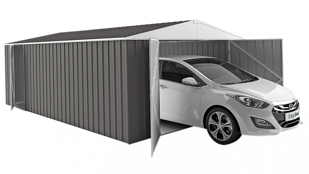 EasyShed Garage Shed - Slate Grey