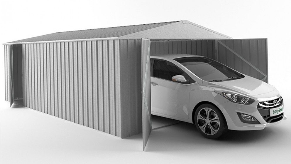 EasyShed Garage Shed - Zinc