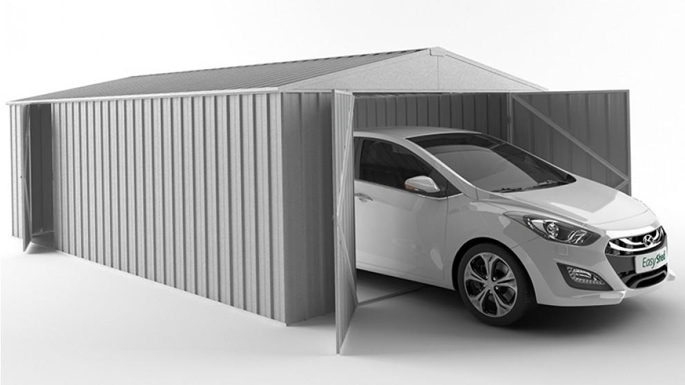 EasyShed 450cm Garage Shed - Zinc