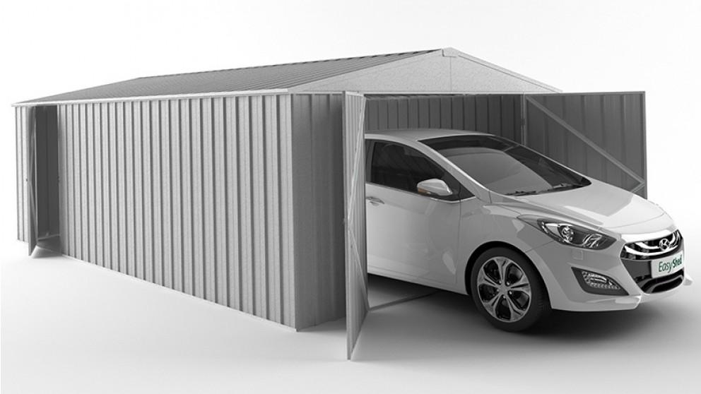 EasyShed 600cm Garage Shed - Zinc