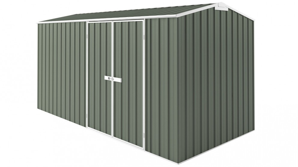EasyShed Tall Gable Truss Garden Shed - Mist Green