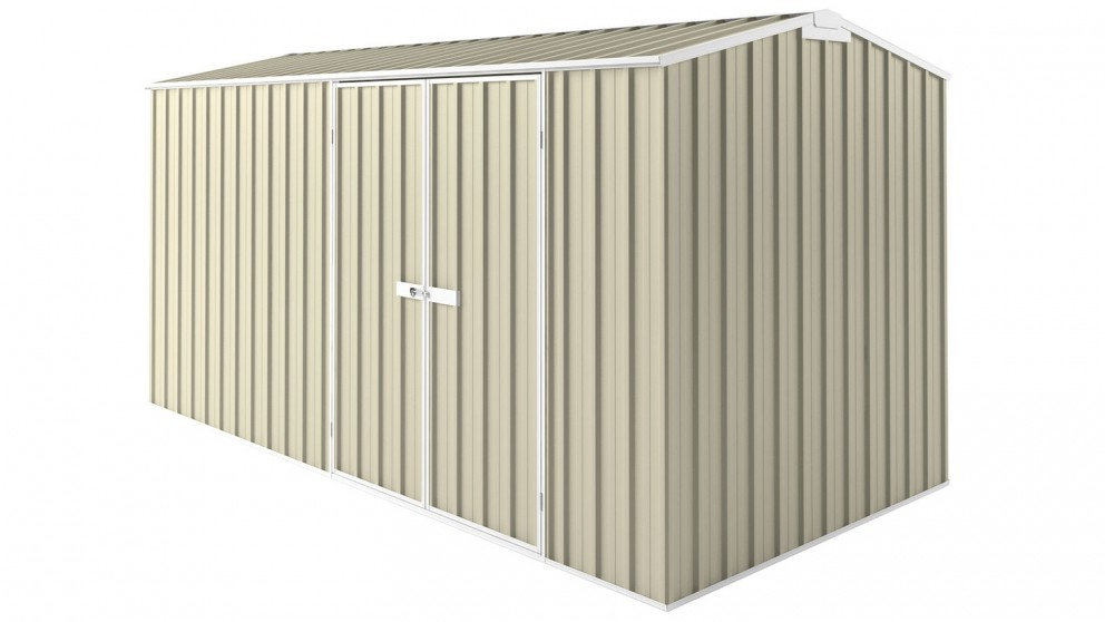 EasyShed Tall Gable Truss Garden Shed - Smooth Cream