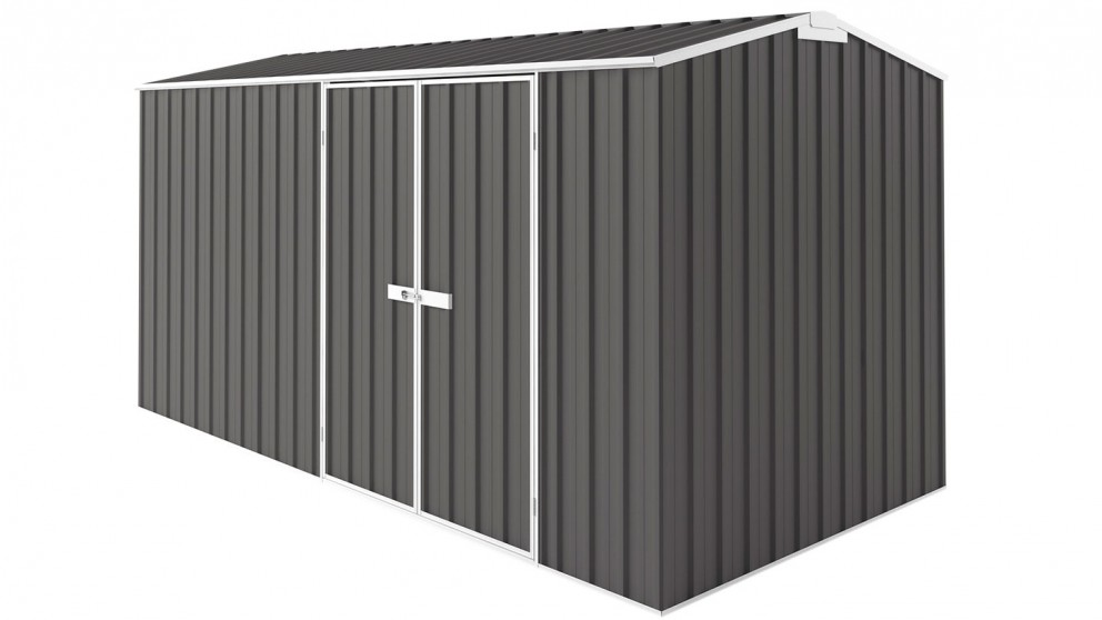 EasyShed Tall Gable Truss Garden Shed - Slate Grey