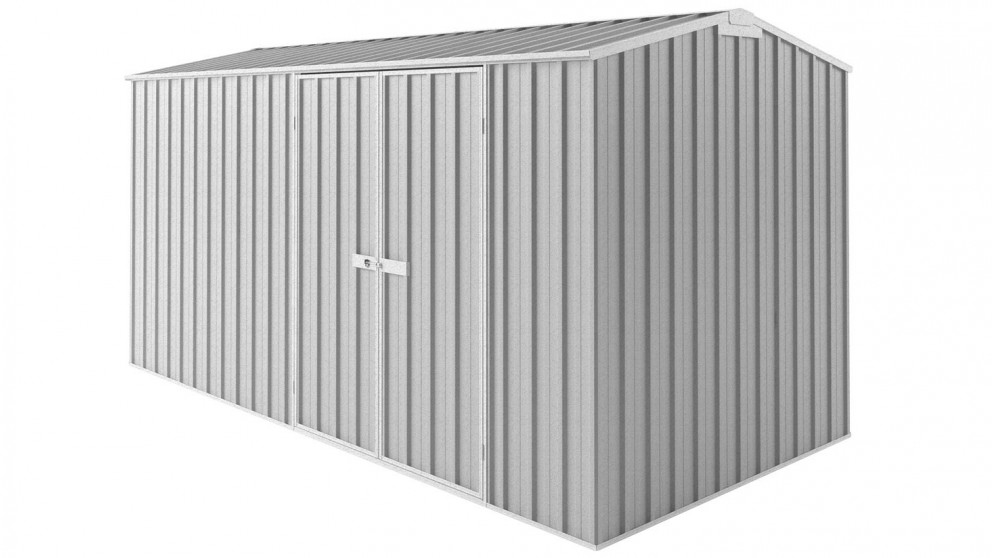 EasyShed Tall Gable Truss Garden Shed - Zinc