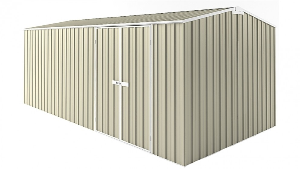 EasyShed Gable Truss Garden Shed - Smooth Cream