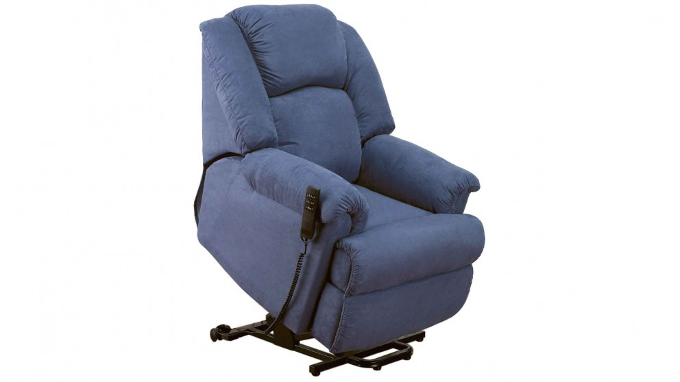 Ben Fabric Dual Motor Lift Chair - Blue