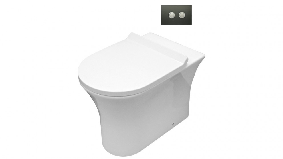 Parisi Play MK II Wall Hung Pan with In-Wall Cistern and Glass Flush Plate