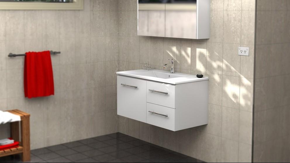 Vanity Bathroom Harvey Norman timberline austin 900mm wall hung vanity - bathroom vanities