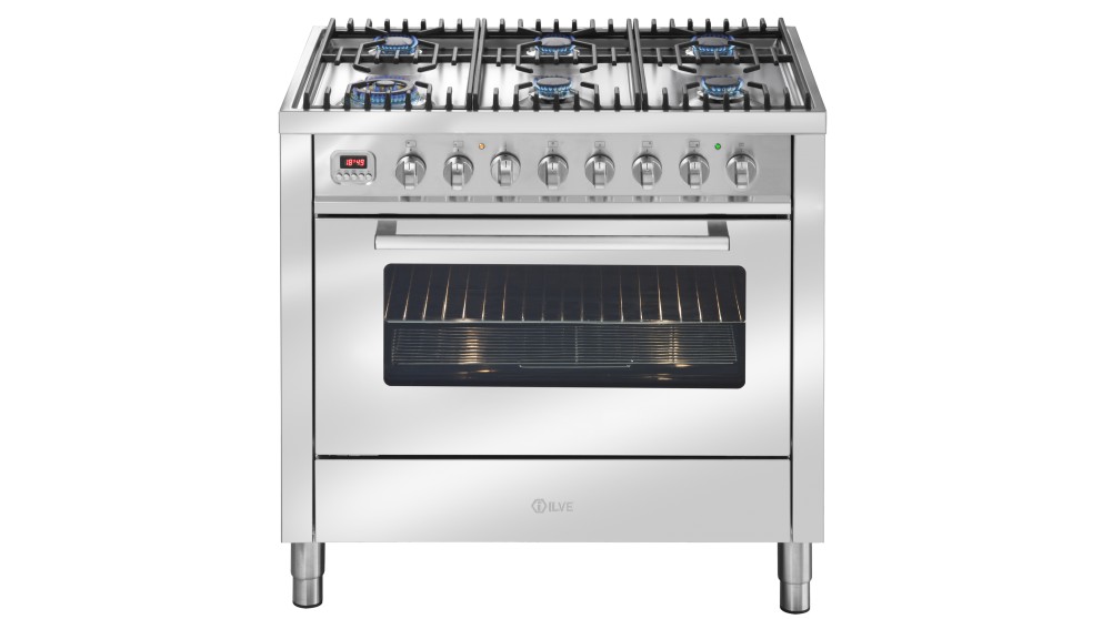 ILVE 900mm Freestanding Gas Oven - Stainless Steel