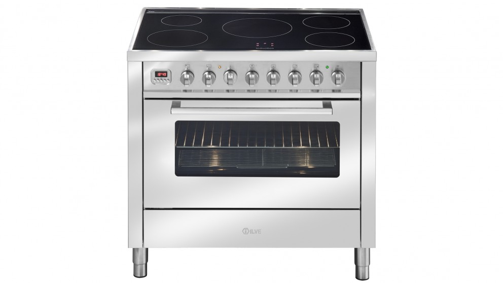 ILVE 900mm Induction Electric Freestanding Cooker - Stainless Steel