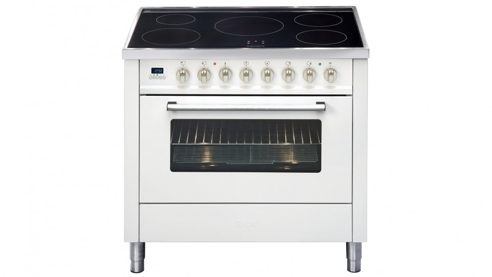 ILVE 900mm Induction Electric Freestanding Cooker - Bright White