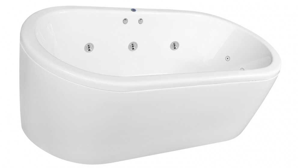 Buy Decina Miami 1800mm Freestanding Spa Bath - Chrome Jets | Harvey ...
