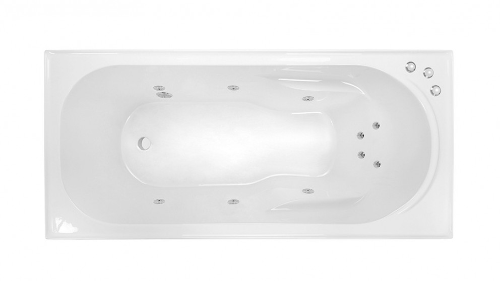 Decina Prato 1510mm Santai 10 Jet Ripple Base Spa Bath