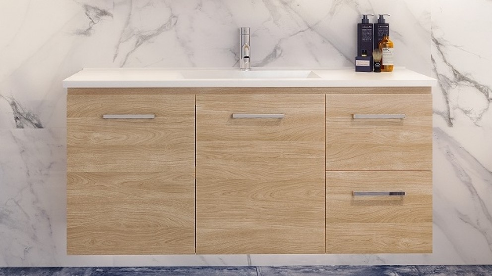 Vanity Bathroom Harvey Norman timberline ostia 1200mm wall hung vanity - bathroom vanities