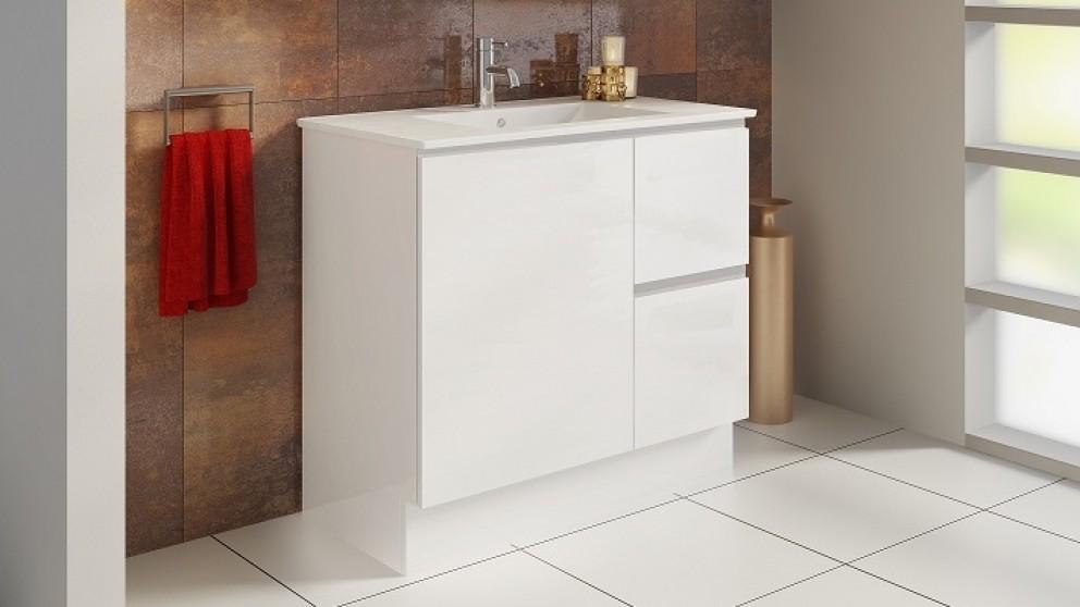 Vanity Bathroom Harvey Norman timberline ostia 900mm floorstanding vanity - bathroom vanities
